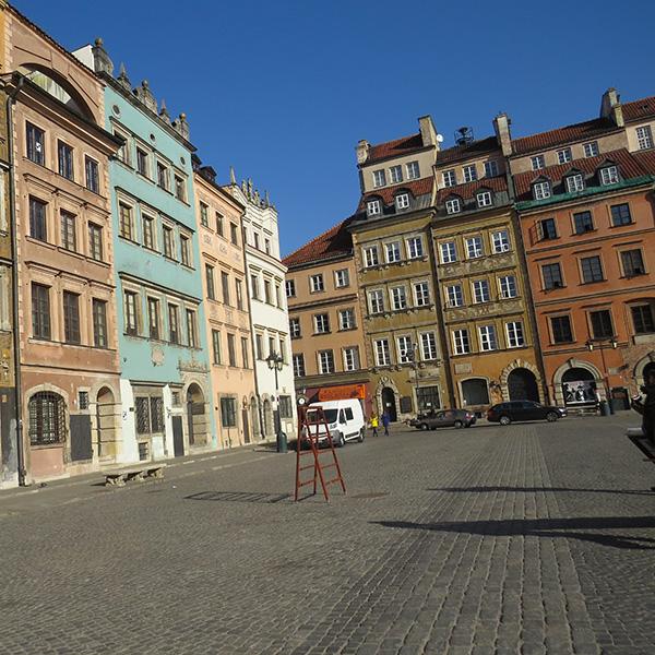 La place de la vielle ville reconstituée