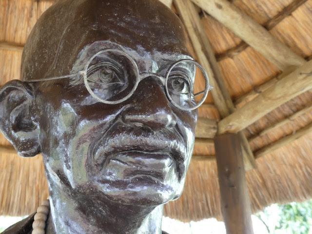 Statue de Gandhi.