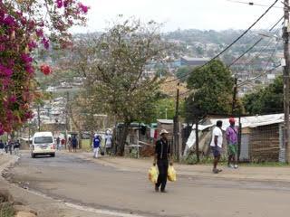 Inanda  vue du township.