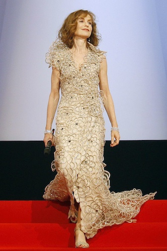 Jury president and French actress Huppert is seen on stage as she attends the opening ceremony of the 62nd Cannes Film Festival