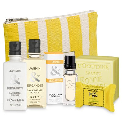 trousse week-end jasmin bergamote-Occitane-les Boomeuses