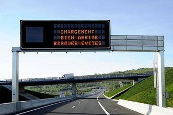 Drôle de message sur l'autoroute