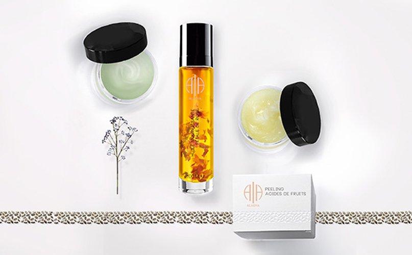 produits de beauté de la marque cosmétique Alaena