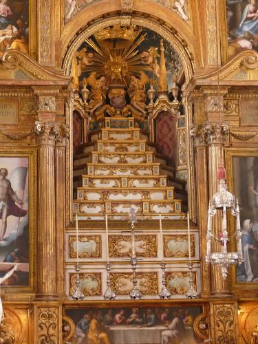 photo de l'intérieur de la chapelle baroque de La chapelle Sao Miguel