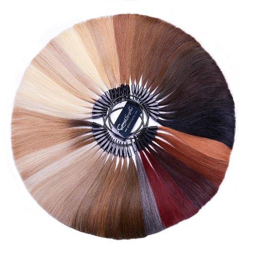 image représentant un échantillon de différentes mèche pour extensions de cheveux
