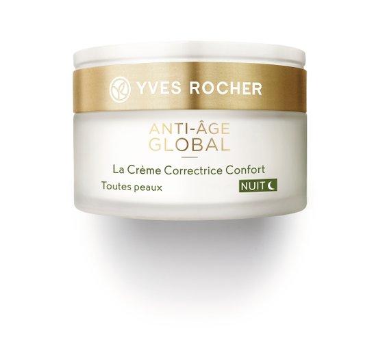 Photo d'un pot de crème anti-âge global de la marque Yves Rocher