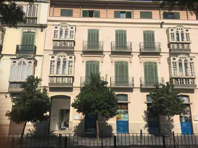 Façade de la maison natale de Picasso à Malaga