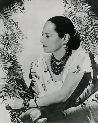 portrait en noir et blanc d'une femme Helena Rubinstein