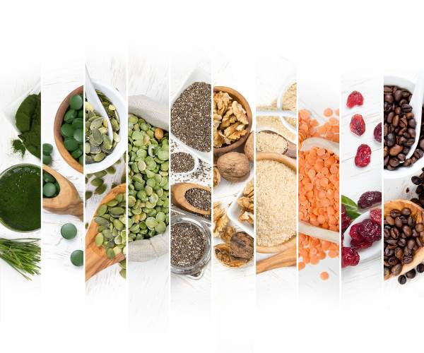 Photo de différentes graines et féculents bons pour la santé, les boomeuses.com