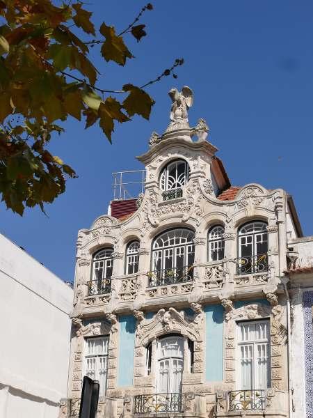 façade d'une maison ARt nouveau au portugal