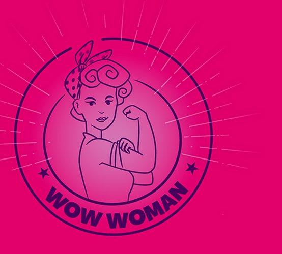 Illustration d'un dessin d'une femme faisant un bras d'honneur, publiée dans le magazine les boomeuses