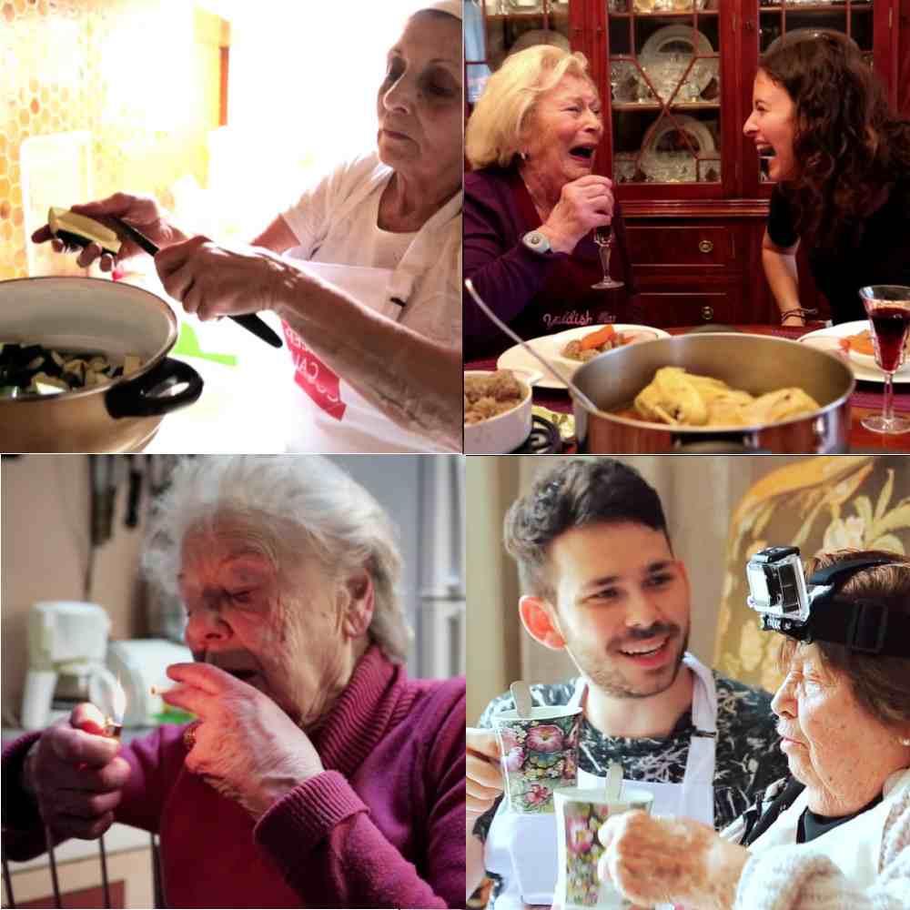 photos de grands-mères ne train de cuisiner pour des videos de transmission culinaire, parues dans les boomeuses