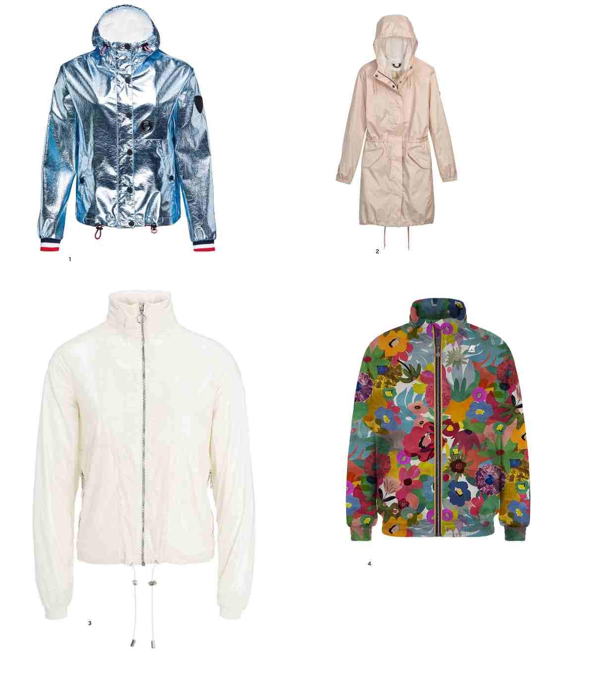 photos avec 4 vêtements de pluie