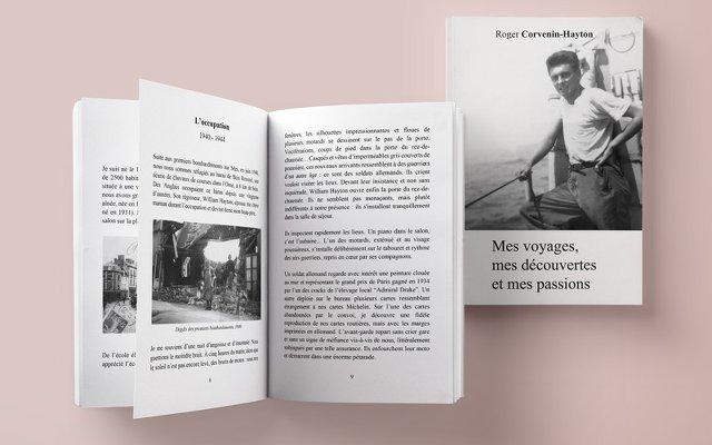 livre ouvert racontant la biographie d'un parent