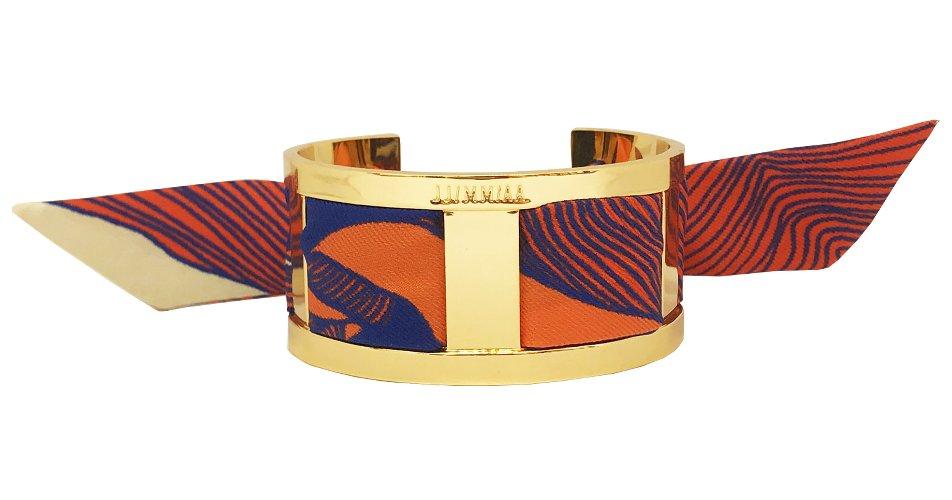 Bracelet avec foulard aux tons épicés