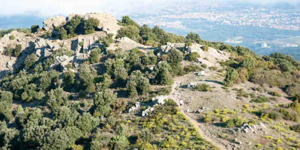 paysage de montagne d'Argelès-sur-mer