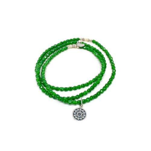 bracelets en perles vertes
