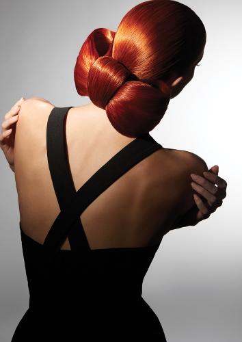 femme de dos avec chignon réalisé par Alexandre de Paris