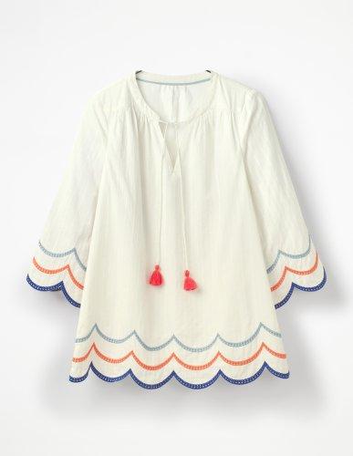 blouse avec bas festonnée