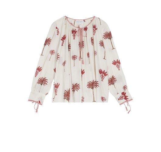 blouse fleurie parue sur Les Boomeuses