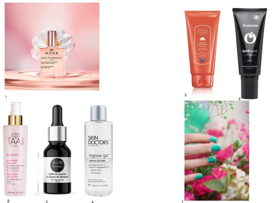 produits de beauté pour l'été et les vacances