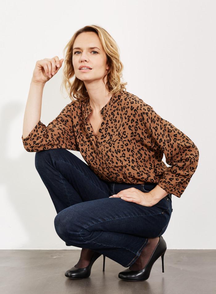 blouse imprimé leopard