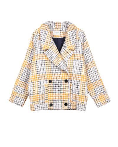 veste à carreaux jaunes