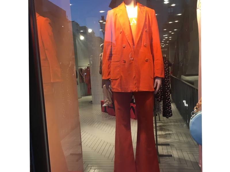 Costume orange années 70