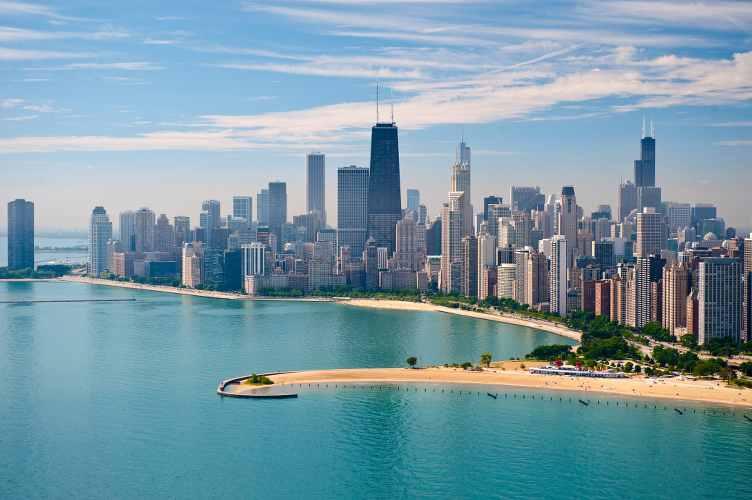 la vile de chicago vue du lac