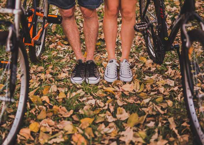couple en vélo