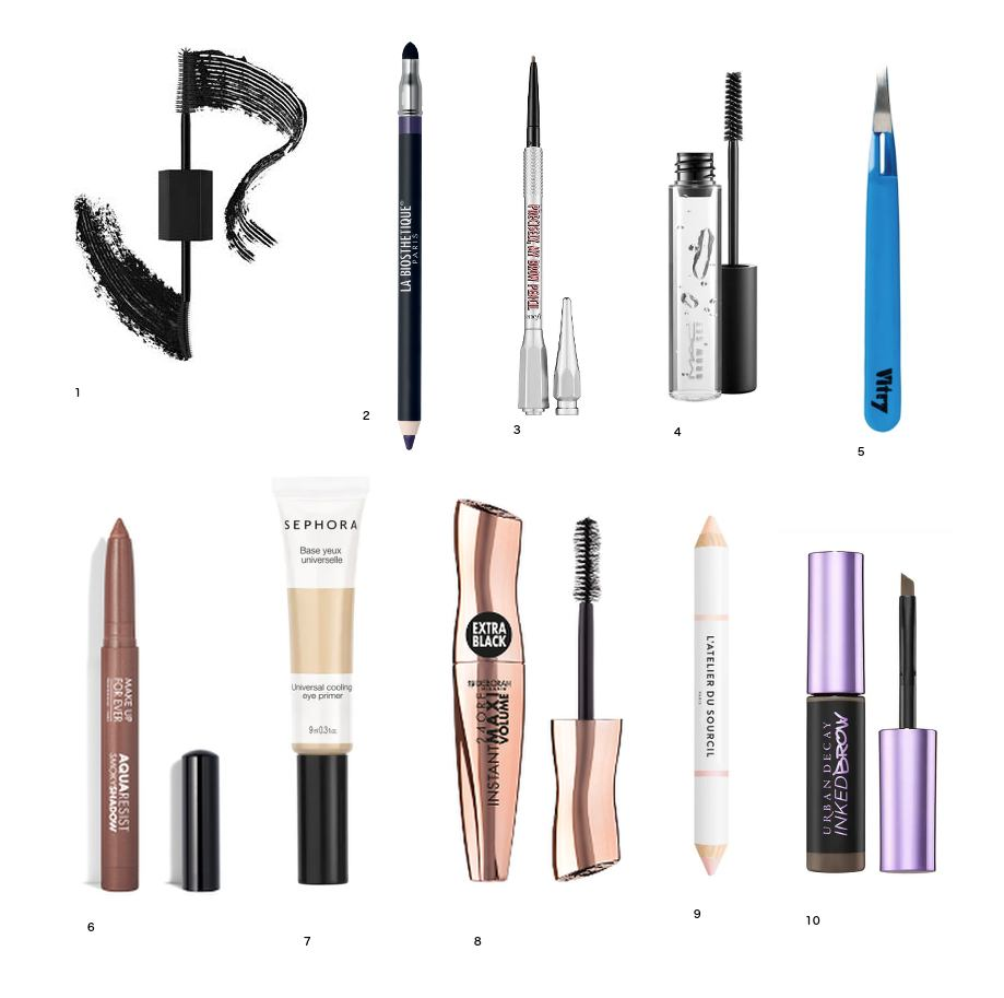 Maquillage sourcil set cils