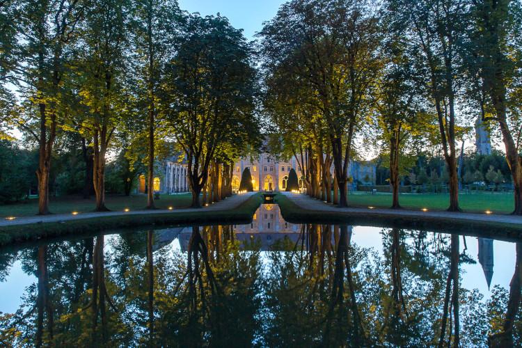 abbaye royaumont de nuit
